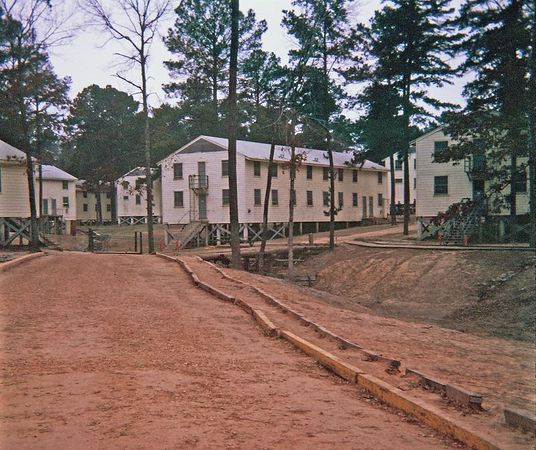 More barracks area