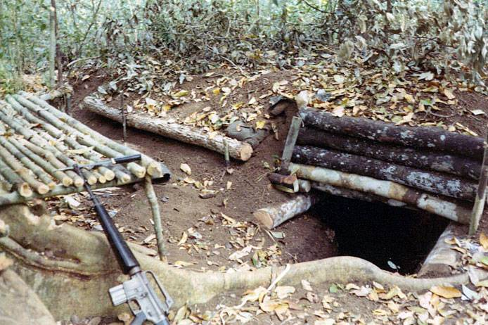 VC captured bunker with mortar